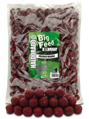 Haldorádó Big Feed - C21 Boilie 2500 g - Kořenitá Klobása