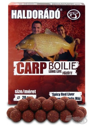 Haldorádó Carp Boilie Long Life  - Spicy Red Liver