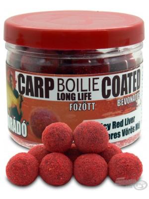 Haldorádó Carp Boilie Long Life Coated - Fűszeres Vörös Máj / Spicy Red Liver (Kořenitá Červená Játra)