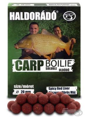 Haldorádó Carp Boilie Soluble -  Spicy Red Liver (Kořenitá Červená Játra)