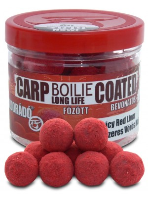 Haldorádó Carp Boilie Long Life Coated 18 mm - Kořenitá Červená Játra