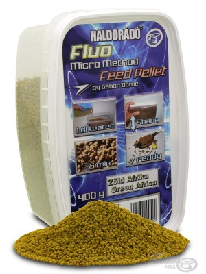 Haldorádó Fluo Micro Method Feed Pellet - Green Afrika