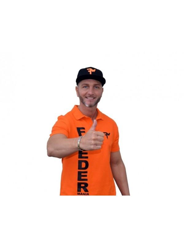 Feeder Mania 3D Tričko s golierom Orange-Black M